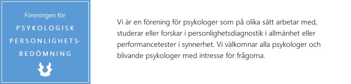 PSYKOLOGISK PERSONLIGHETSBEDÖMNING